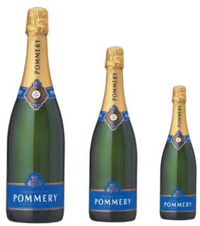 Champagne Pommery Brut Royal demi bouteille, magnum, jeroboam