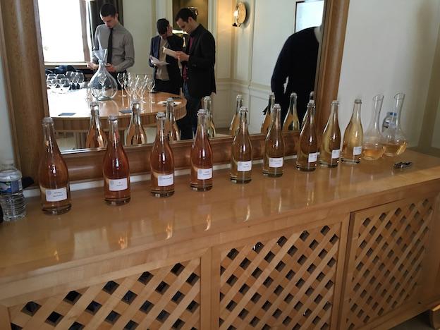 Atelier Roederer, dégustation des vins clairs 2015, 2009 et 2008. Certains vins méritent leurs cuvées non effervescentes