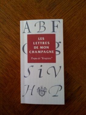Champagne Krug : les lettres de mon champagne