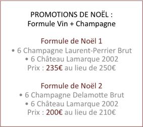 Promotion champagne laurent perrier et delamotte avec vins for Champagne delamotte prix