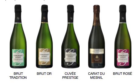 Gamme des Champagnes Gimonnet Gonet du Mesnil sur Oger Grand Cru