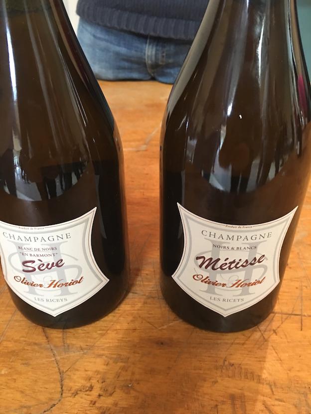 Riceys vins clairs 2015 : champagne Horiot Sève blanc de noirs 2009 et cuvée métisse