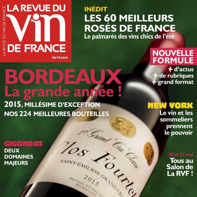 En kiosque, édition Revue du Vin de France / mois de Mai 2016
