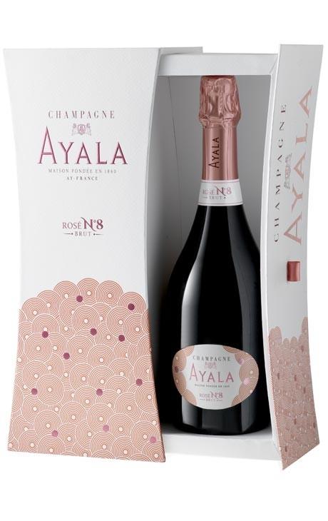 Champagne Ayala rosé 2008 N°8 avec coffret