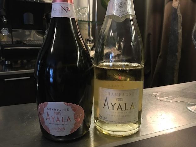 champagnes Ayala que j'ai adorés le plus : rosé N°8 et blanc de blancs grand cru 2008
