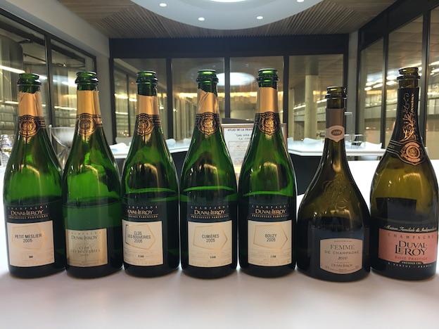 Dégustation des champagnes Duval-Leroy précieuses parcelles