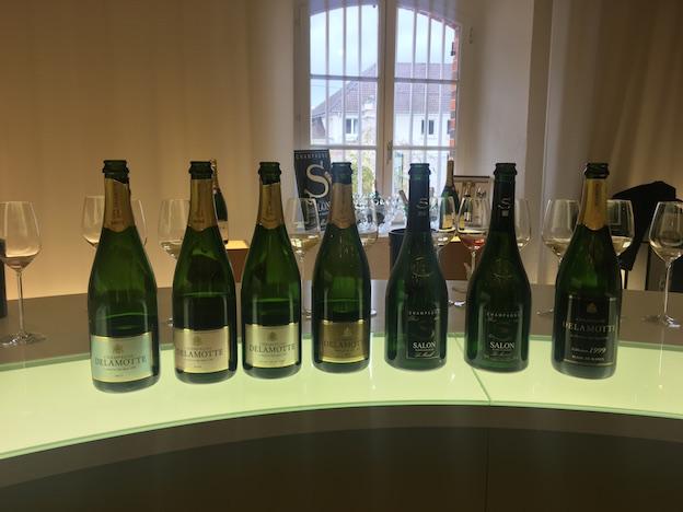 Dégustation de la gamme des champagnes Delamotte et Salon